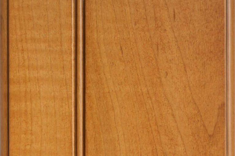Golden Sienna Glazed Stain on Soft Maple wood