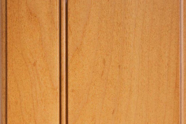 Golden Sienna Glazed Stain on Hard Maple wood