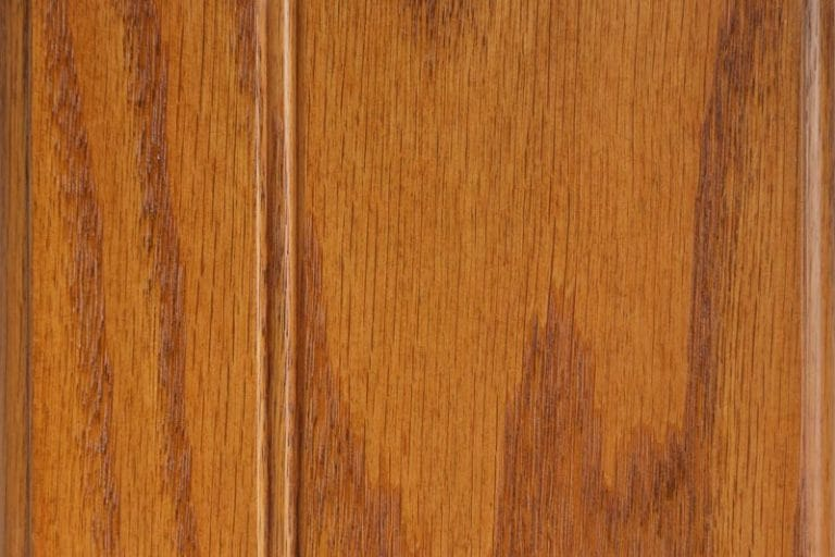 Harvest Gold Stain on Red Oak wood