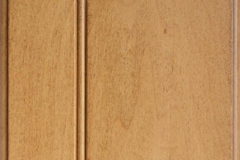 Hazelnut Glazed Stain on Hard Maple wood