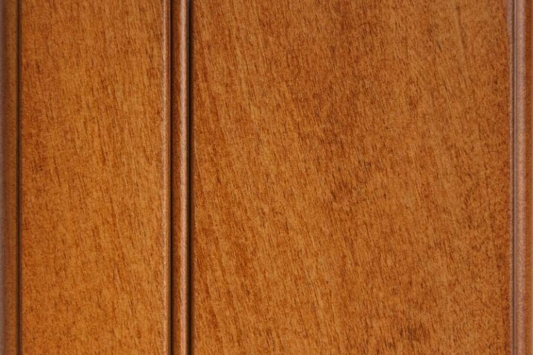 Russett Glazed Stain on Soft Maple wood